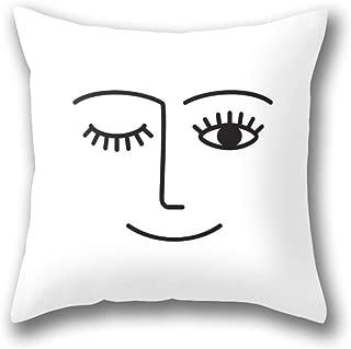 NBTJZT Wink Pillow Cover Standard Throw Pillowcase 18X18 Inch