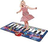 Estera de piano musical, estera de piano duradero, 10 sonidos seleccionables, juego y grabación, para 2 a 5, baile y aprenda, registre los modos de demostración de reproducción para niñas piano infant