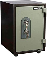 Mahmayi Victory T53 Fire Safe - Fireproof & Waterproof Box – Specious Compartment - Protect Money - Two Key Locks - W34.3cm x D42.6cm x H51.6cm (Grey)
