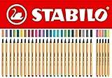 STABILO point 88schwarz Filzstift–Stifte (schwarz, 0,4mm, mehrfarbig, orange)