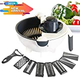 Aoloria Vegetable Cutter Mandoline Slicer - 9 in 1 Multifunctional Julienne Shredder Grater with...