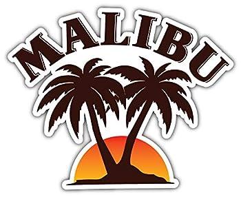 Malibu Logo Sticker Car Bumper Decal 5   X 4