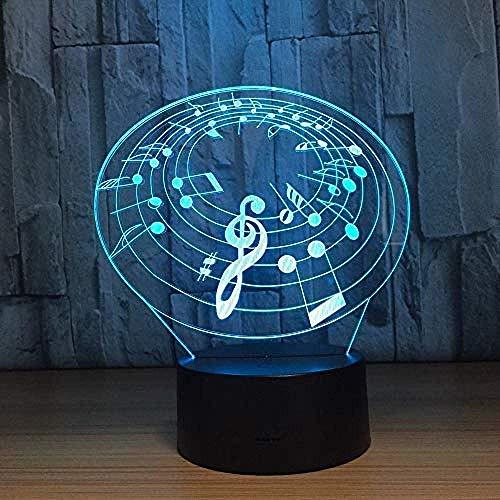 Nachtlicht 3D Musik Symbol Licht 3D Nachtlicht Mit 7 Arten Von Farbwechsel Touch Usb Tisch Esstisch Stimmung Licht Hauptdekoration Geschenk