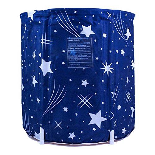 Badewannen AMOS Erwachsenen-Haushalt Ganzkörper ausziehbar Bad Schaumbad Verdickung Isolierung (Farbe : Blau, größe : S 65 * 65cm)