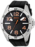 HUGO BOSS Orange Hombres 1512943 Big Time Reloj analógico de Cuarzo Negro