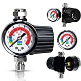 Air Compressor Regulator with Gauge(AR-02) | ¼-inch NPT Diaphragm Type InLine...