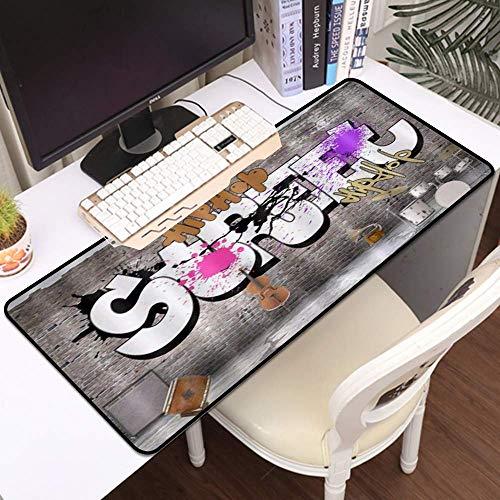 Tbagem-Yjr Gaming Mouse Mat, Mustica de ratón Grande Música Hipster Musical Hombre...