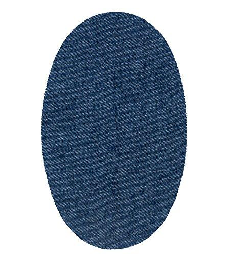 6 rodilleras tejano medio termoadhesivas de plancha. Coderas para proteger tu ropa y reparación de pantalones, chaquetas, jerseys, camisas. 16 x 10 cm. Ref. 21 Tejano medio