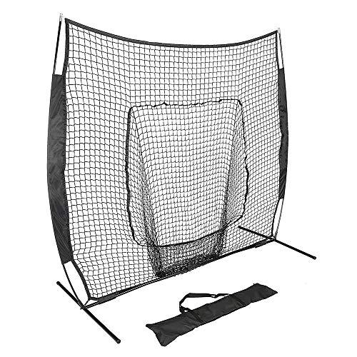 TRF Baseball e Softball Practice Net, 7 x 7 Ft Portable Colpire Batting Formazione Netto con Carry Bag - in Fibra di Vetro Rod Corda di Nylon - per Pitching, Catching