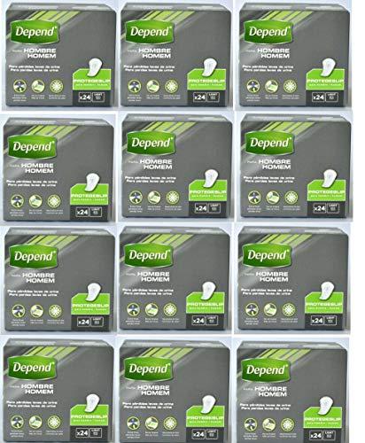288 Stück Depend Men Level 1 Einlagen, bei leichter Blasenschwäche, Inkontinenz Einlagen Männer (12 x 24 Stück)