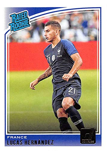 2018-19 Donruss #190 Lucas Hernandez Rated Rookie France Soccer Trading Card