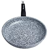 WaxonWare 11 Inch Granite Ceramic Nonstick Frying Pan & Nonstick Skillet, Anti-Warp Non Toxic PTFE APEO PFOA Free Nonstick Pan, Induction Compatible, Dishwasher Safe Omelette Fry Pan (STONETEC Series)