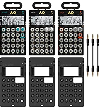 Teenage Engineering PO-30 Pocket Operator Metal Series Super Set Bundle with 3-Pack of CA-X Silicone Cases and 3-Pack of 7  Audio Aux Cables