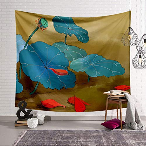 Tapiz de estilo chino decoración de tela tapiz de temporada tapices de pared toalla de playa cojín grande yoga 200x150cm alfombra de cama