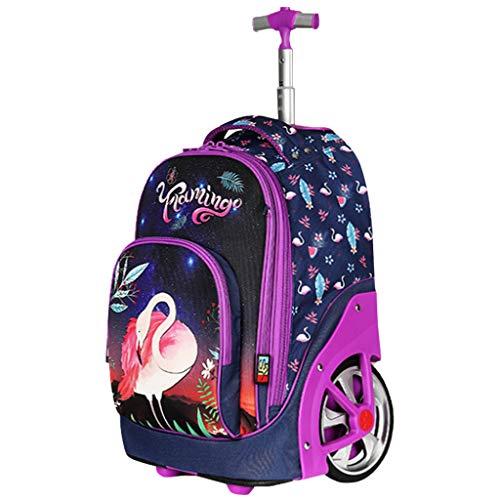 Rolling Rugzak voor kinderen volwassenen, trolley tassen wielen schoolrugzak voor kinderen reizen laptop boeken tas…