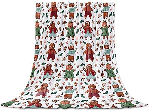 BONRI Manta de forro polar de franela con patrón de relleno navideño, acogedora y suave manta ligera para mujeres y niñas, bebé 127 x 152 cm