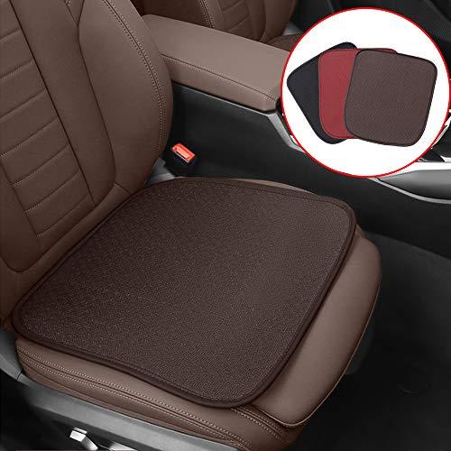 ontto Cojín para asiento de coche transpirable cojín para asiento delantero cojín refrigerador funda universal antideslizante cubierta para asiento de coche silla de oficina color marrón 4 unidades
