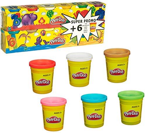 Hasbro Play-Doh - Pack 6 + 6 Botes de plastilina 23023186