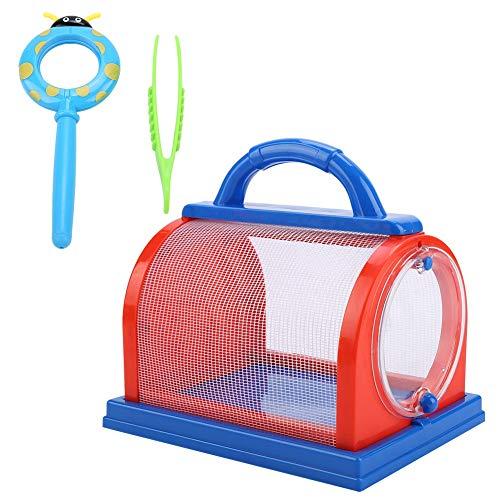 VGEBY1 Critter Case, greep insect House Exploration Critter Cage speelgoed met vergrootglas, pincet voor kinderen