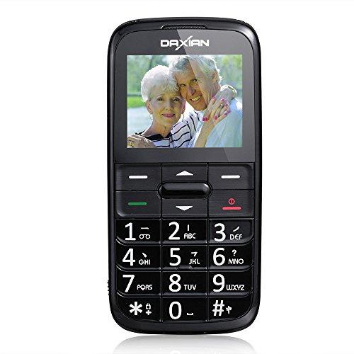 """Crazo I9500 2.2"""" Telefono Cellulare Anziani Vecchi Tasti Grandi DUAL SIM GSM Pulsante SOS, Quadband, GPS, Torcia, Lente Ingrandimento Supporta MMS, MP3, Radio FM, Scheda Micro SD 2G con Panno Pulizia Nero"""