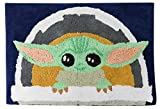 Jay Franco Star Wars The Mandalorian The Child Tufted Cotton Bath Rug, Kids Bath Features Baby Yoda (Offical Star Wars Product)