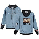 XYUANG Attack On Titan Eren Jaeger Anime Cosplay Jeans Chaqueta...