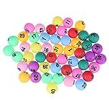 Toyvian Bolas de lotería,Pelotas de Tenis de Mesa numeradas Pelotas de Ping Pong,40 mm,vistosa,50 Piezas