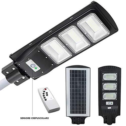 Faro solar LED para carretera, 72 W, 6000 K, sensor de movimiento, luz exterior, IP65
