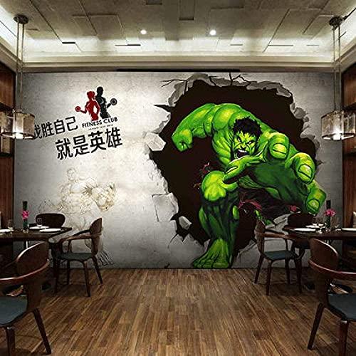 Wohngeräte 3D Wallpaper Leinwand Kunstdruck Wandbild Poster Foto Tapeten Wandbilder Bild Design Modernes Wohnzimmer Schlafzimmer Home Decoration-Avengers Hulk 2 (300x210CM)