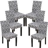 Athyior Cubierta de la Silla 4 6 Paquete de Tramo Fundas para sillas de Comedor Espalda Alta Silla Protectora Funda Que se Puede Quitar para Hotel Fiesta Boda Comedor