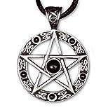 Anhänger Pentagramm Bronze schwarze Steine etNox Schmuck - Schutzamulett - Pentagrammanhänger 062