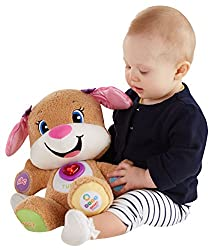 Helps develop sensory and fine motor skills Introduces body parts, colors, letters, counting and more! Includes Smart Stages technology-learning changes as baby grows Paws, tummy, ears and light-up heart respond to baby's touch (7 activations in all!...