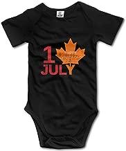 XHX Newborn Baby Canada Day Happy Short Sleeve Romper Onesie Bodysuit Jumpsuit