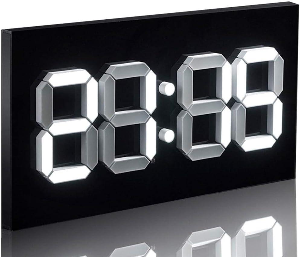 Reloj de Pared de la decoración casera Los Controles remotos Digitales convexos Blancos El Reloj electrónico del Calendario perpetuo para una visualización Clara y un Ajuste automático del Brillo.