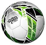POWERSHOT But de Football 3 x 2m - Stadium - Filet épais et résistant - Tout Inclus/avec Options : Ballon de Foot ou Mur de tir (But + Ballon T.4)