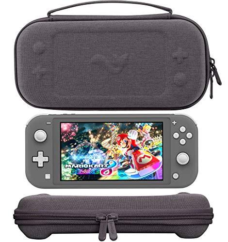 ButterFox Slim Compact Tragetasche für Nintendo Switch Lite mit 19 Spielen und 2 Micro-SD-Kartenfächern, Aufbewahrungsfach für Switch Lite Zubehör Premium Grau Slim