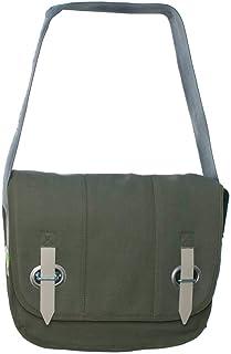 HAB & GUT HAB & GUT PROVOKED by, Messenger Bag aus Segeltuch mit Verschlusslasche olivgrün 35 x 30 cm