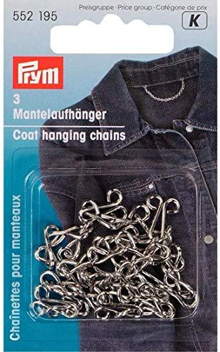 PRYM 552195 Mantelaufhänger Eisen silberfarbig, 3 Stück