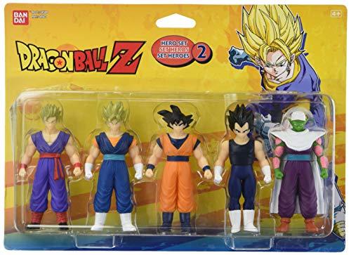 Bandai–Dragon Ball Z–Set di 5personaggi–Set Eroi, Modelli assortiti, 1 Pezzo