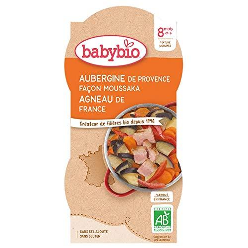 Babybio Petit Bol Aubergines Façon Moussaka Agneau Français 8+ Mois 2x200 g