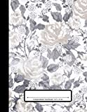 Composition Notebook: 110 Pages | College Ruled Composition | 8.5x11 in. | Distressed Floral Flower Print