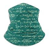 Jwohek Patrón de ecuación matemática Pasamontañas cómodo, polaina de cuello multifuncional para hombres