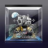 icuanuty Vitrina de Acrílico para Lego 10266 NASA Apollo 11 Lunar Lander, Display Case Vitrinas para Colecciones Modelismo (Solo Vitrina) (3mm con luz e inyección de Tinta)