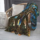 Manta única de franela ligera de Notre Dame Basilica Paris, para sofá/sofá o oficina de 152 x 127 cm