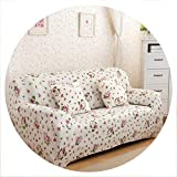sensitives Universal Stretch Sofa Cover Spandex Polyester Couch Slipcover Sectional Sofa Armchair Furniture Cover Floral Birds Leaves,6,2 Seater