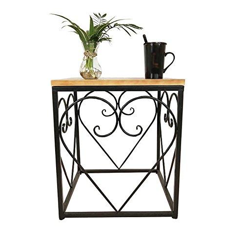 BZ-ZK SZQ Tafel van ijzer, salontafel voor woonkamer, eettafel, vierkant, 45 x 45 x 50 cm