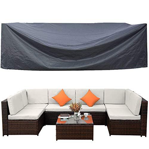 Outdoor Patio Furniture Covers Waterproof Outdoor Furniture Lounge Porch Sofa Covers Sunscreen Dustproof Durable Protective Seat Covers No Fading126 L x 64