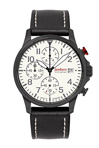 Junkers herenhorloges analoog kwarts één maat kalfsleer 87354768