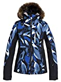 Roxy Jet Ski Premium-Chaqueta para Nieve para Mujer, Mazarine Blue Striped Leaves, XXL
