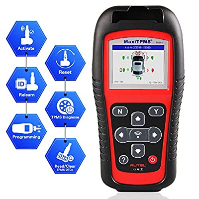 Autel MaxiTPMS TS501 TPMS Relearn Tool Automotive Scan Tool with Activate TPMS Sensors/TPMS Sensor Programming/Program MX-Sensor/Relearn by OBD Diagnostic Scanner, Upgraded Version of TS408 by Autel